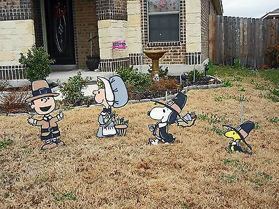 Peanuts Thanksgiving Yard Art Halloween Yard Art