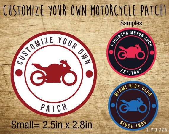 SMALL Circle Motorcycle Patches - Customize your Motorcycle Patches