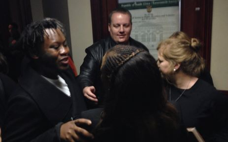 LABOUR COURT RULES IN FAVOUR OF FOUR FIRED SABC JOURNALISTS Labour Court has ruled that the South African Broadcasting Corporation must reinstate the journalists.   SABC journos hugging each other after the Labour Court ruling. Picture: EWN.
