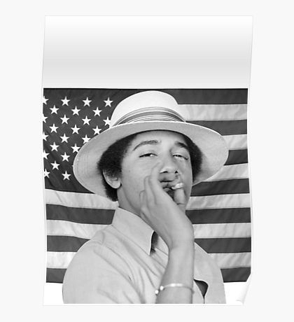 Young Obama smoking with American Flag by billyoner