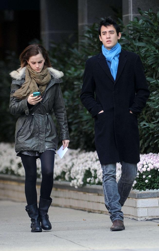 Emma Watson With Boyfriend Will Adamowicz in New York