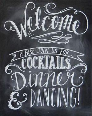 Welcome Chalkboard Wedding Sign