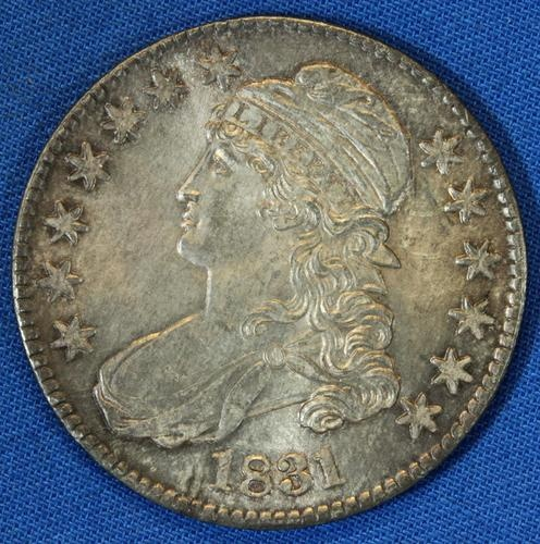 1831 Capped Bust Fifty Cents 50c Half Dollar Silver Coin - Free Shipping