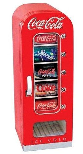 Coca Cola Small Mini Fridge Vending Machine -- Collector's item originally made for coke reps