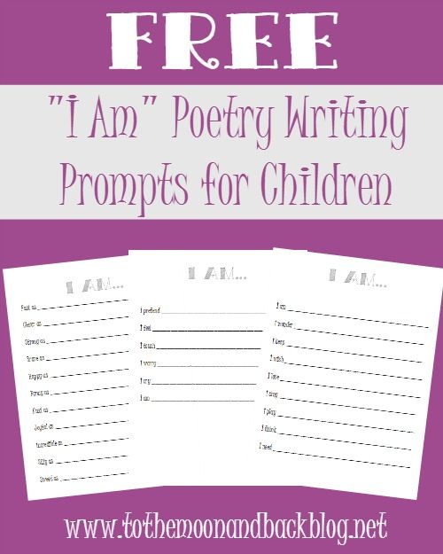 writing poems for kids The worksheets on this page guide students through the poetry-writing process we have worksheets for teaching haiku writing, couplets, acrostic poems, rhyming.