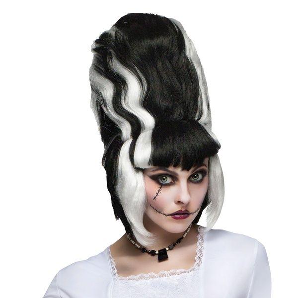Bride of Frankenstein Wig Adult Halloween Costume Fancy Dress