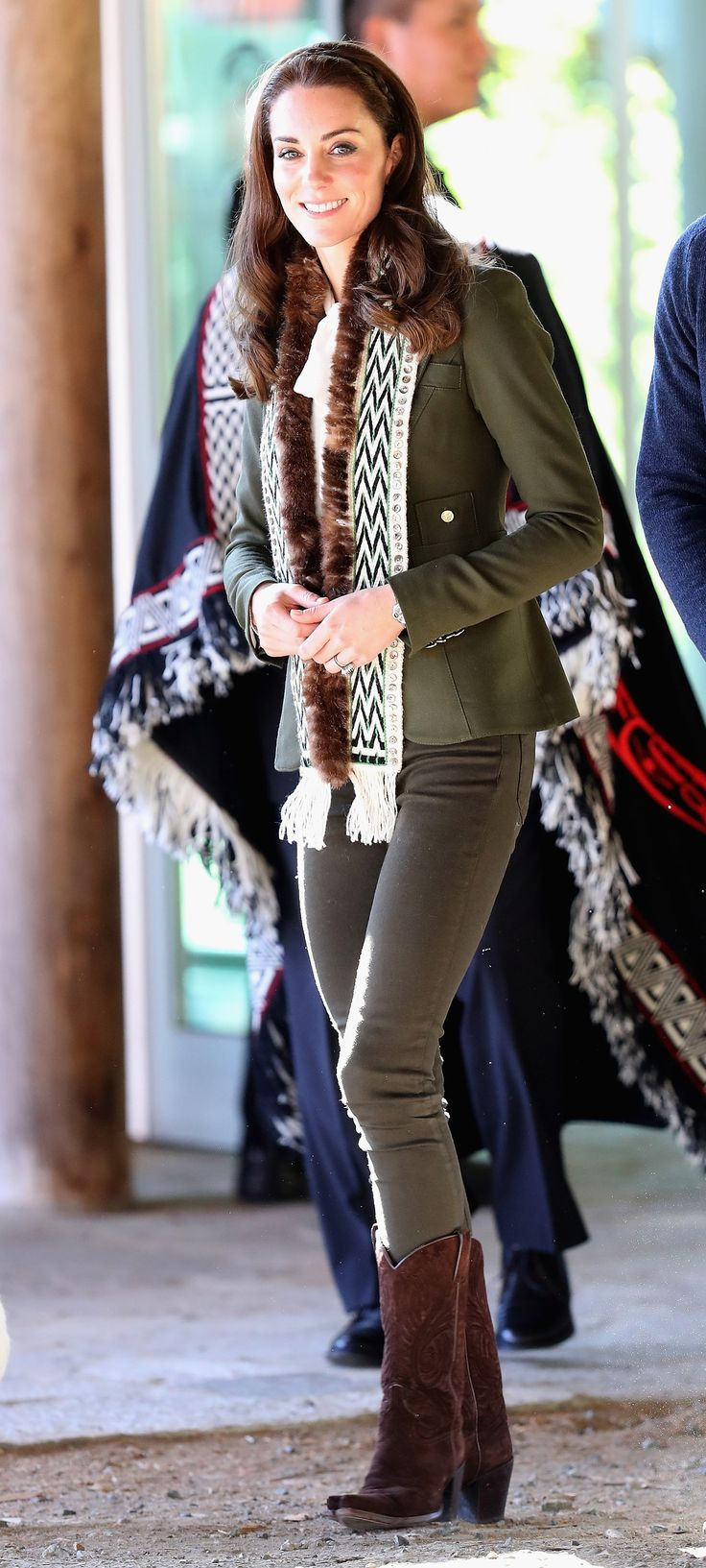 Jacket: Smythe; Top: Alice Temperley; Boots: R. Soles