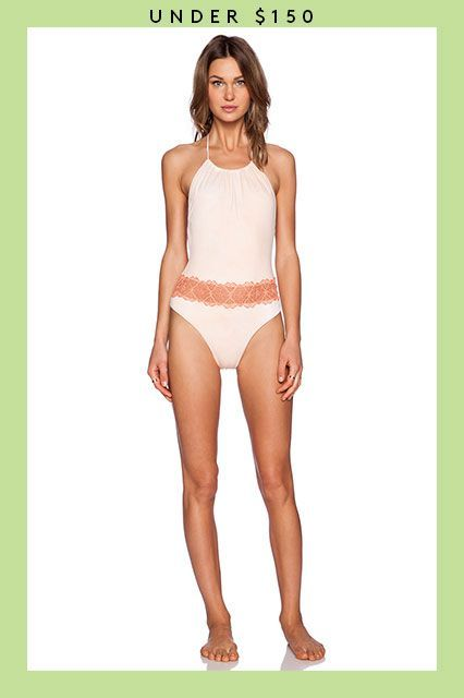 Summer's Not Over Yet — 21 Sweet Swimsuits On Sale Now #refinery29  http://www.refinery29.com/2015/08/91653/swimsuits-on-sale#slide-10  A pretty lace trim is worth the tan lines, promise. ...