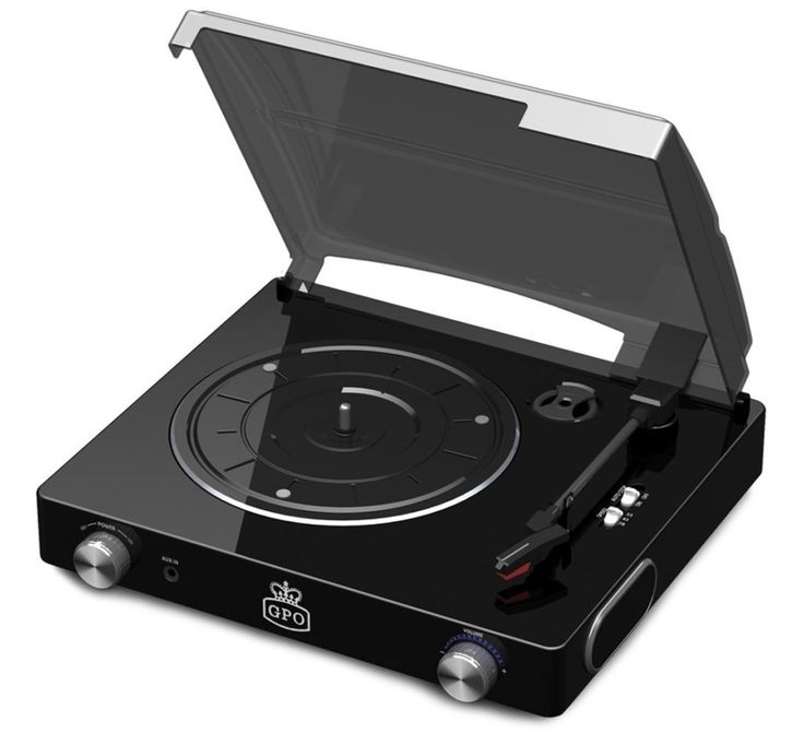 GPO Stylo Retro Turntable Black Music Player  http://bit.ly/1YY3fJj