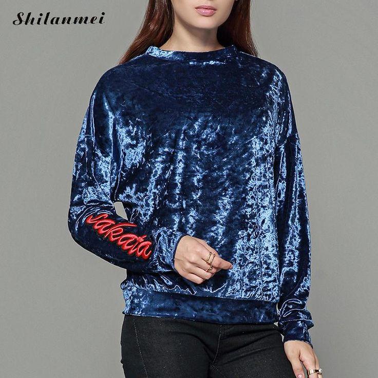 Female Ladies Casual Satin Blouse Tops Women Tops For Autumn Vintage Blouse Round Neck Long Sleeve Blouse Velvet Top Blusas #Satin blouses http://www.ku-ki-shop.com/shop/satin-blouses/female-ladies-casual-satin-blouse-tops-women-tops-for-autumn-vintage-blouse-round-neck-long-sleeve-blouse-velvet-top-blusas/