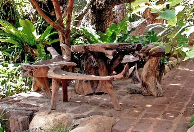 stumpery outdoor furniture and garden decorations