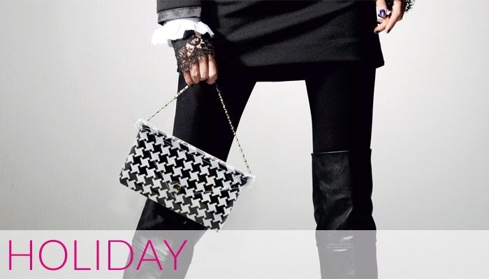 Holiday #black&white #clutch