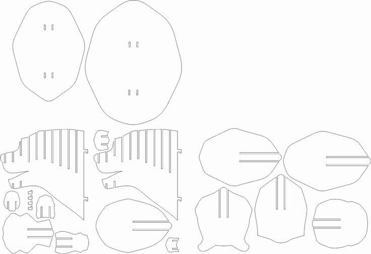 DXF Plans Downloads - Bear head