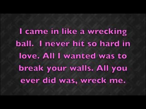 Wrecking Ball -Miley Cyrus (Lyrics) | music videos | Pinterest