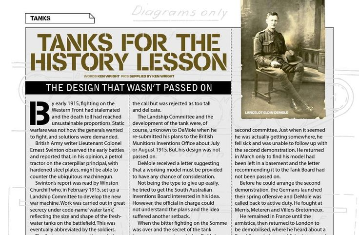 The tank that didn't get built. Published in issue #12, December 2006