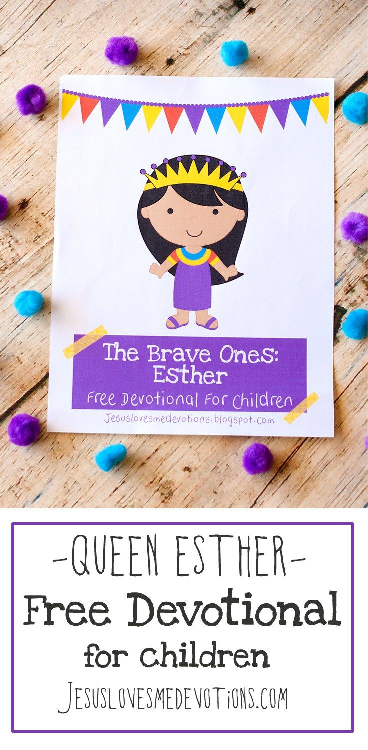 FREE devotional for children on Queen Esther | www.jesuslovesmedevotions.com Free devotions for children | Bible for kids | free devotions for kids