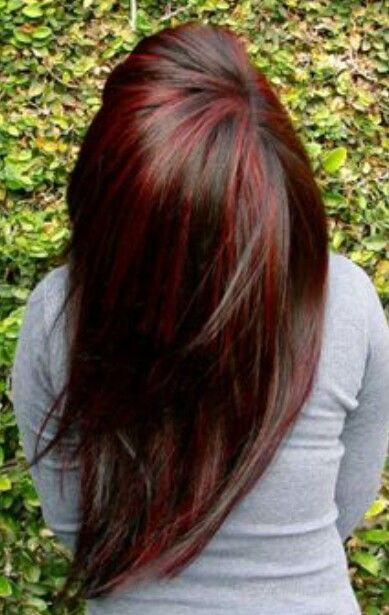Chunky red highlights