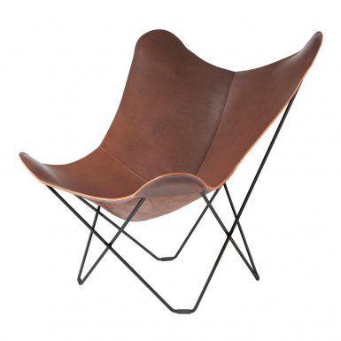 Pampa Mariposa Chocolate Fåtölj | Cuero Design | Länna Möbler | Handla online