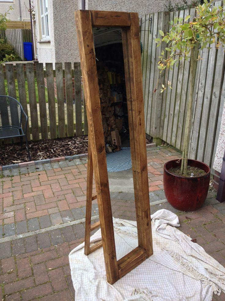 Full length freestanding mirror