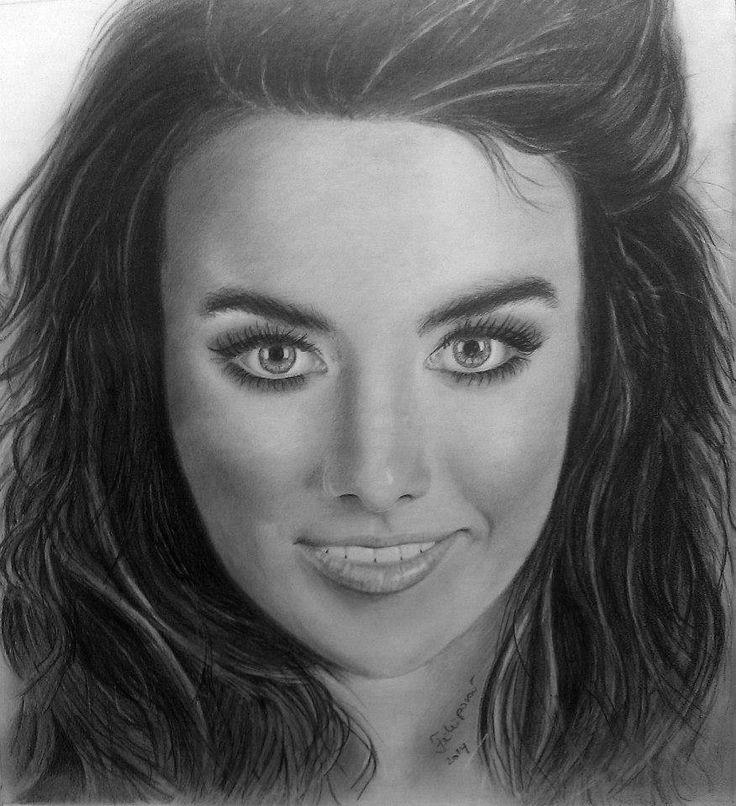 portrait singer Ewa Farna, A3,pencils Faber Castell