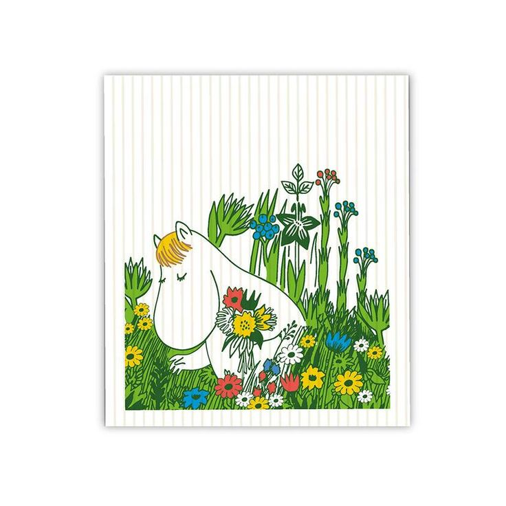 Snorkmaiden Summer dish cloth - The Official Moomin Shop