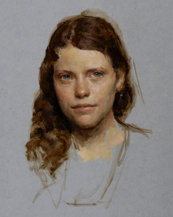 Oil portrait by Travis Schlaht. Instructor at the Grand Central Academy.