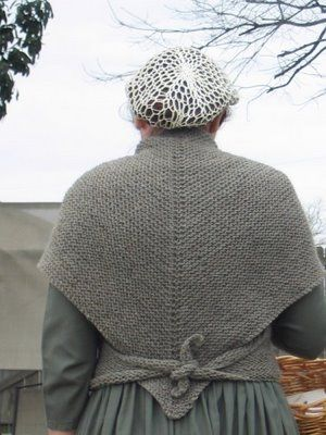 Natural State Knitting: A Knitted Sontag or Tess's Shawl