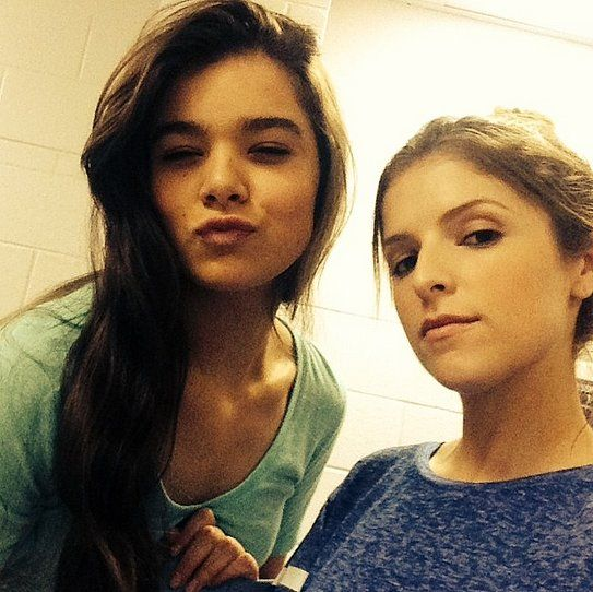 """Hailee and Anna posted a picture together while shooting Pitch Perfect 2. Beca is there like """"you mess with ma girl mmmm you 'bout to die"""" then Emily is just like """"yah you listen to my mom biotches"""""""