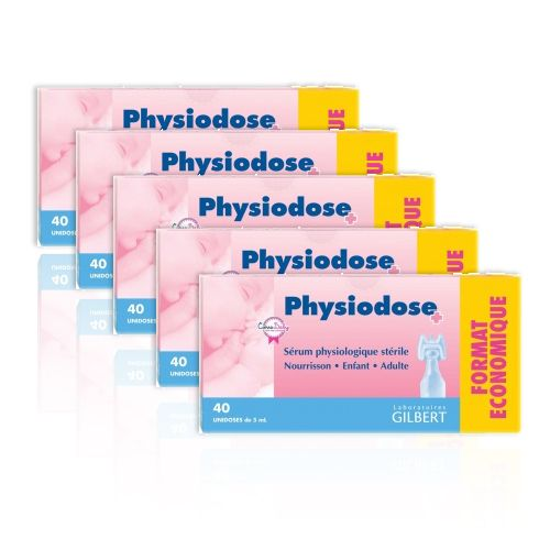 VOLUMISSIME Gilbert Physiodose 40x5ml Lot de 5 - Pharmacie Lafayette - Nez