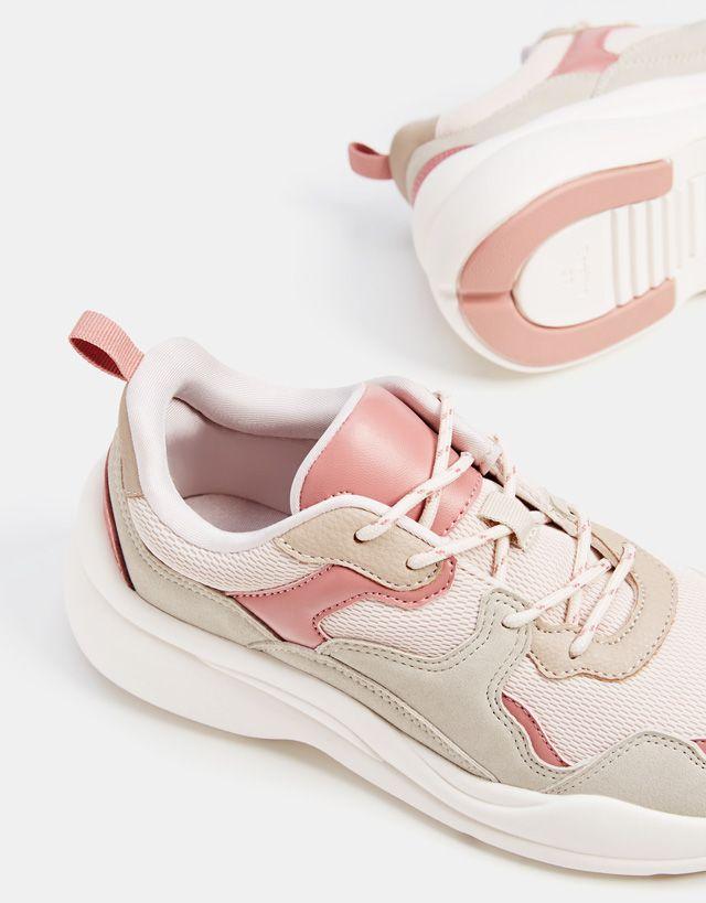 Contrasting platform sneakers - Bershka