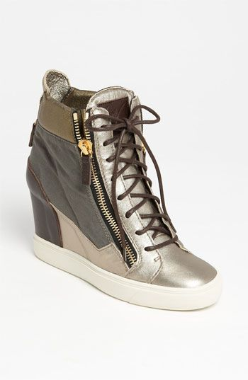 Giuseppe Zanotti Wedge Sneaker available at #Nordstrom | See more about Wedge Sneakers, Giuseppe Zanotti and Wedges.