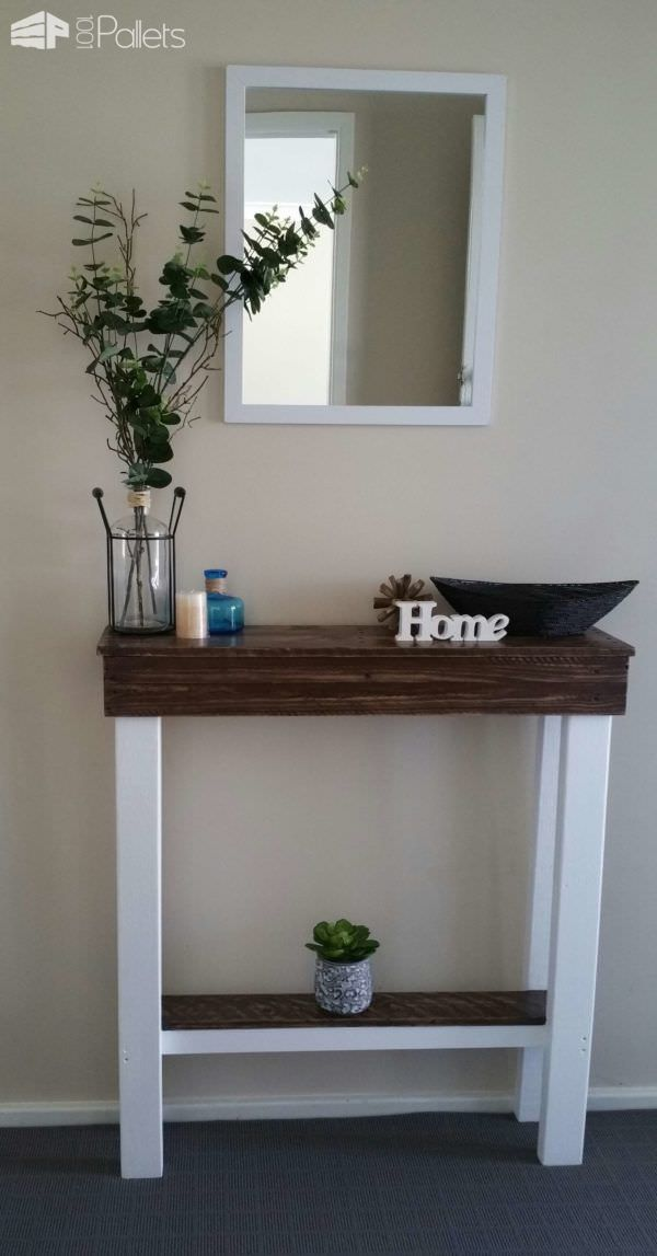 best 20 pallet entry table ideas on pinterest diy sofa table wood pallet tables and small table ideas