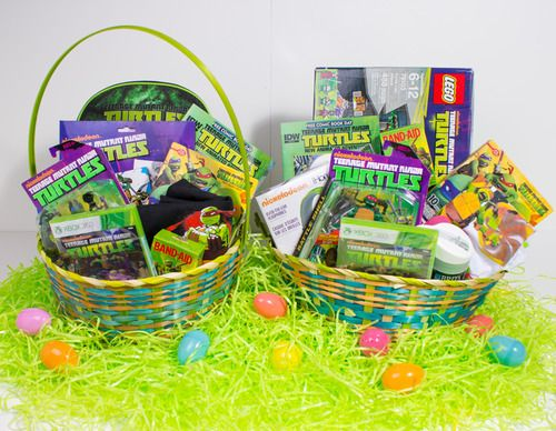 31 best any occasion gift baskets images on pinterest gift teenage mutant ninja turtles easter basket giveaway contest ends april toy hype usa negle Image collections