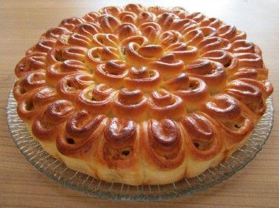 Мясной пирог «Хризантемка»