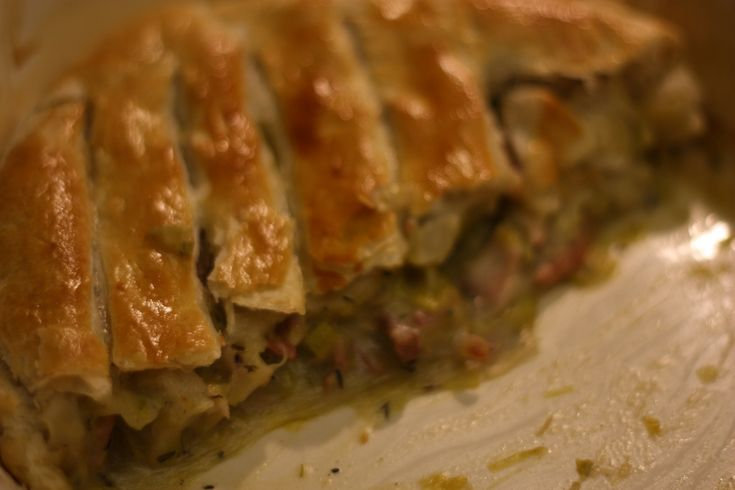 Turkey and Leek Pie, inspired by Jamie Oliver - Leftover Turkey Recipe - This American Bite