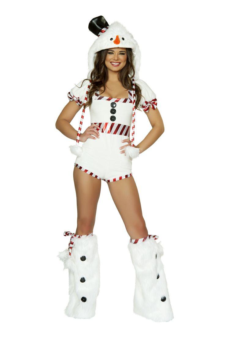 J Valentine Snowman Romper Womens Costume Sexy