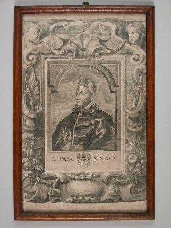 Pope Sixtus IV, Francesco della Rovere (1414-1484) Son of Leonardo della Rovere and Luchina Monleoni.