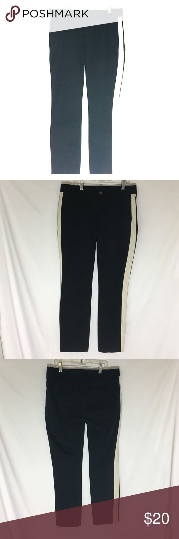 J Crew pants J Crew stretch pants. Black in color with white single stripe down each side. From the Fall 2014 line J. Crew Pants Trousers
