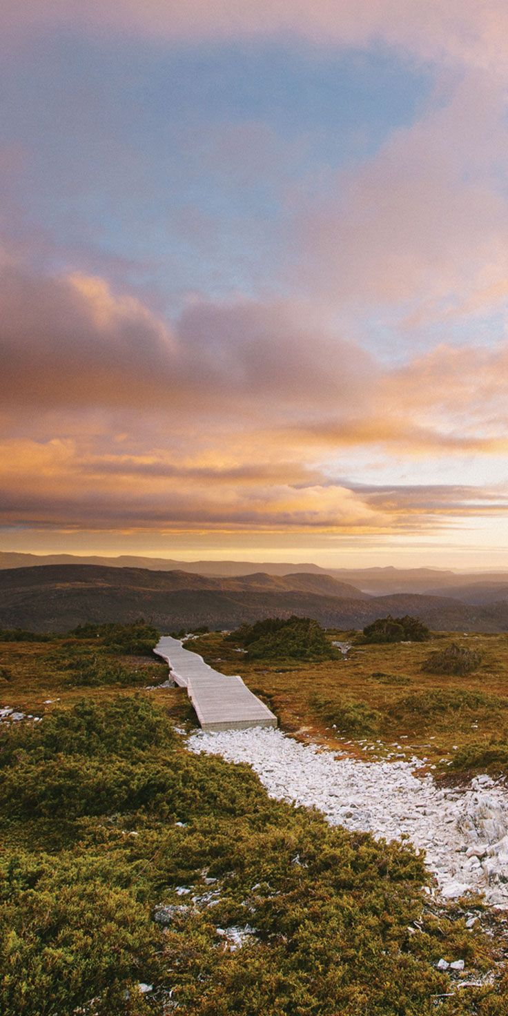 Sunrise from the Cradle Mountain track - by Philip Thurston