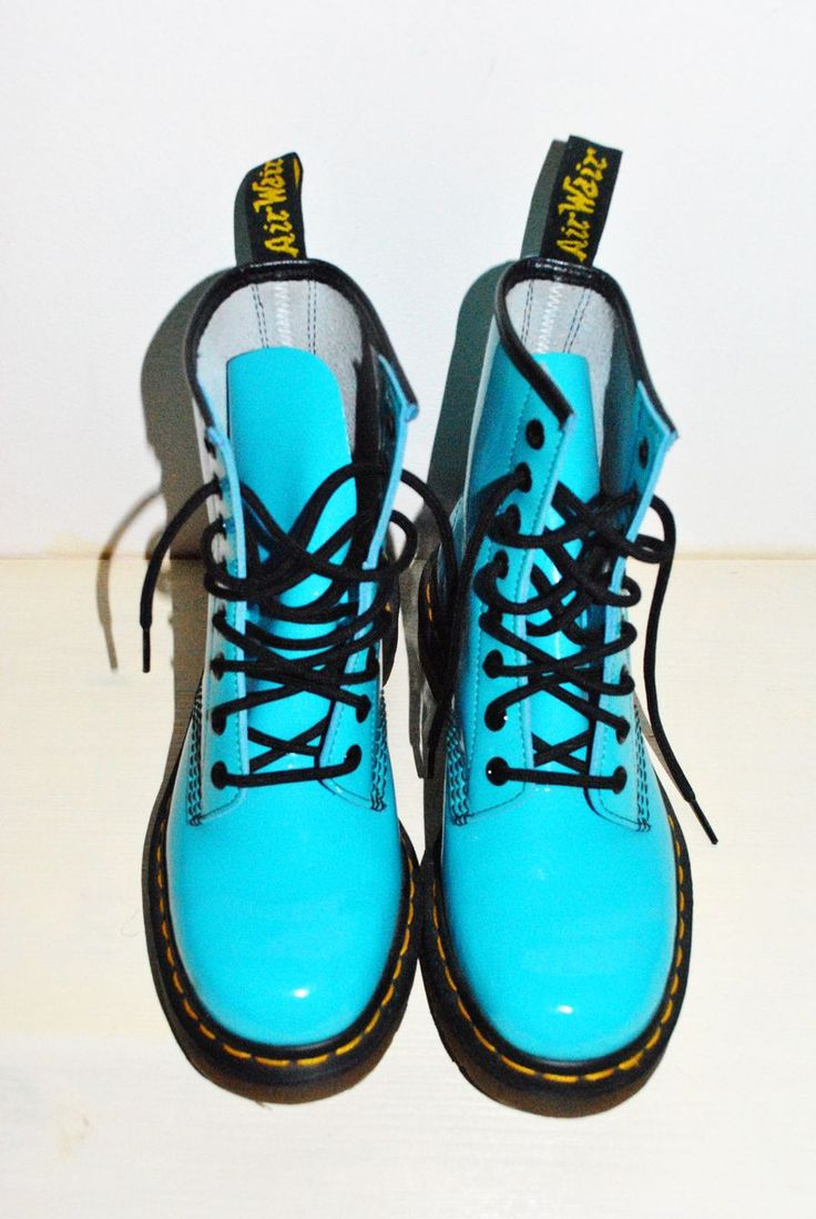 Turquoise Dr Martens - Size 6 please. They will go with nothing but I don't care