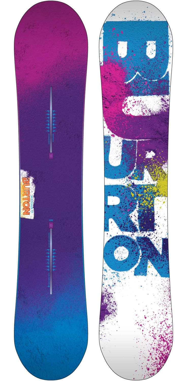 Burton snowboard designs ( great use of colours and artistic background)