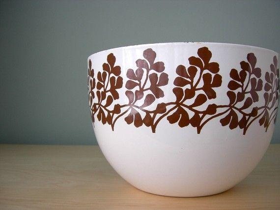 Kaj Franck Arabia Finel Maidenhair fern Floral Bowl