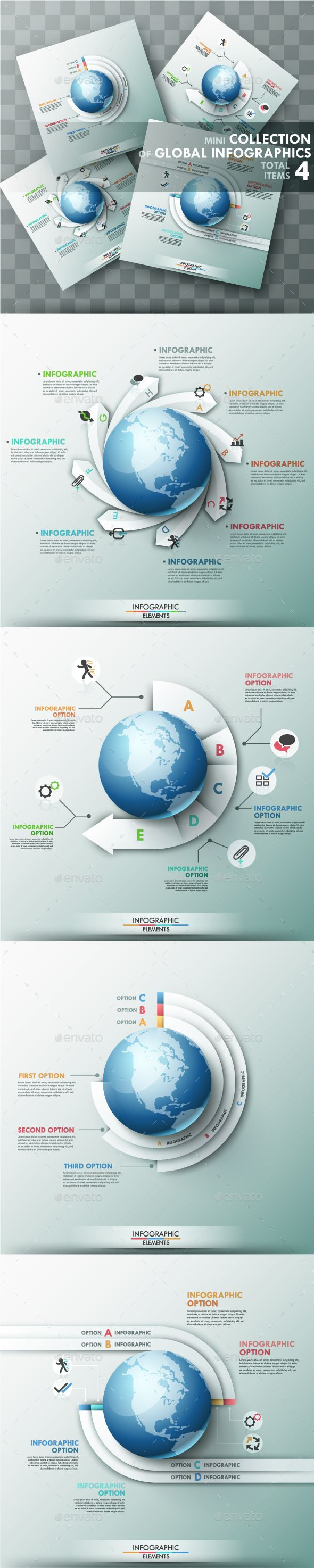 Set of 4 Global Templates PSD, EPS, AI #design Download: http://graphicriver.net/item/set-of-4-global-templates/9848507?ref=ksioks