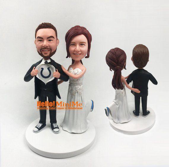 BH G902P Custom bobbleheads wedding bobble heads wedding cake topper Bobblehead wedding topper Custom cake toppers for wedding Bobblehead