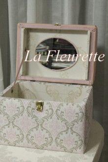 ピンクが可愛い~メイクボックス♪ |布のインテリア* ラ フルーレット の ダイアリー