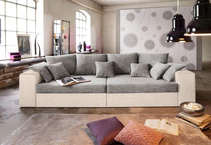 Die besten 25+ Big sofa mit schlaffunktion Ideen auf Pinterest - wohnzimmer weis grau beige