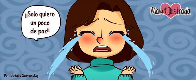 cansada de ser madre viñeta - mama ilustrada