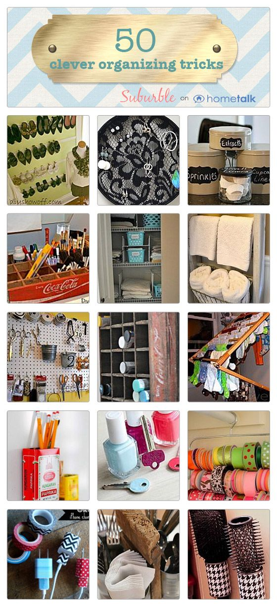 Let's Get Organized: 50 Clever Tricks from Suburble.com