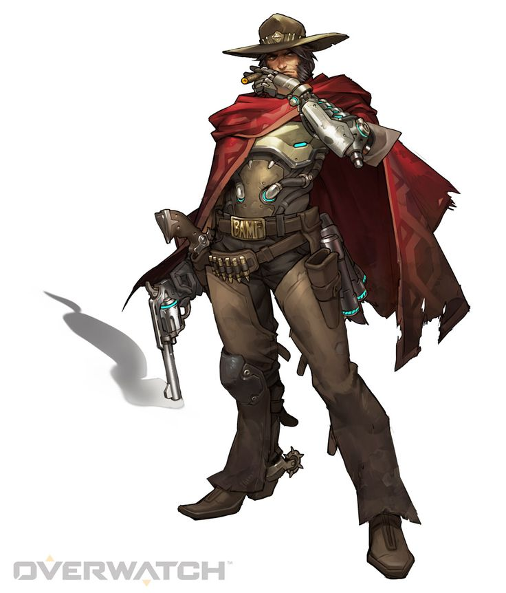 McCree, Armed with his Peacekeeper revolver, McCree takes out targets with deadeye precision and dives out of danger with eagle-like speed.