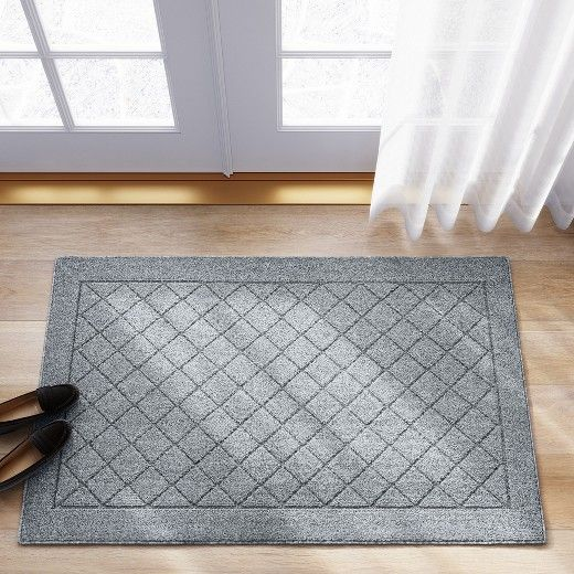 Rugs like the Threshold™ Chevron Rug are a great way to keep your floors protected from scuff marks and scratches. You can use this machine washable rug in your entryway to keep your family from tracking in dirt, or place several in the kitchen to cover up cold tiles. Made with a stain-resistant material, this diamond-etched rug has a durable latex backing to handle heavy foot traffic. This rug is available at Target.com.